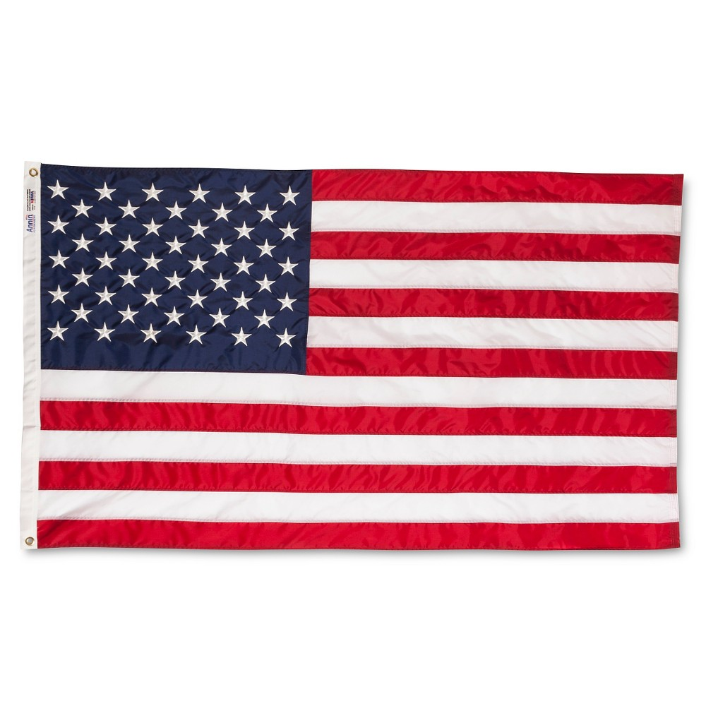 Image of Annin Embroidered American Flag - 3' x 5'