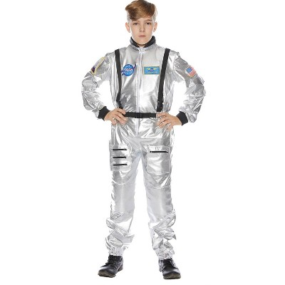 Kids' Astronaut Silver Halloween Costume 6-8