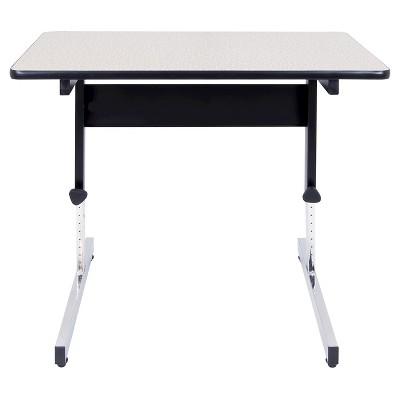 "36"" Canvas & Color Adjustable All Purpose Table Black/Gray - Calico Designs"