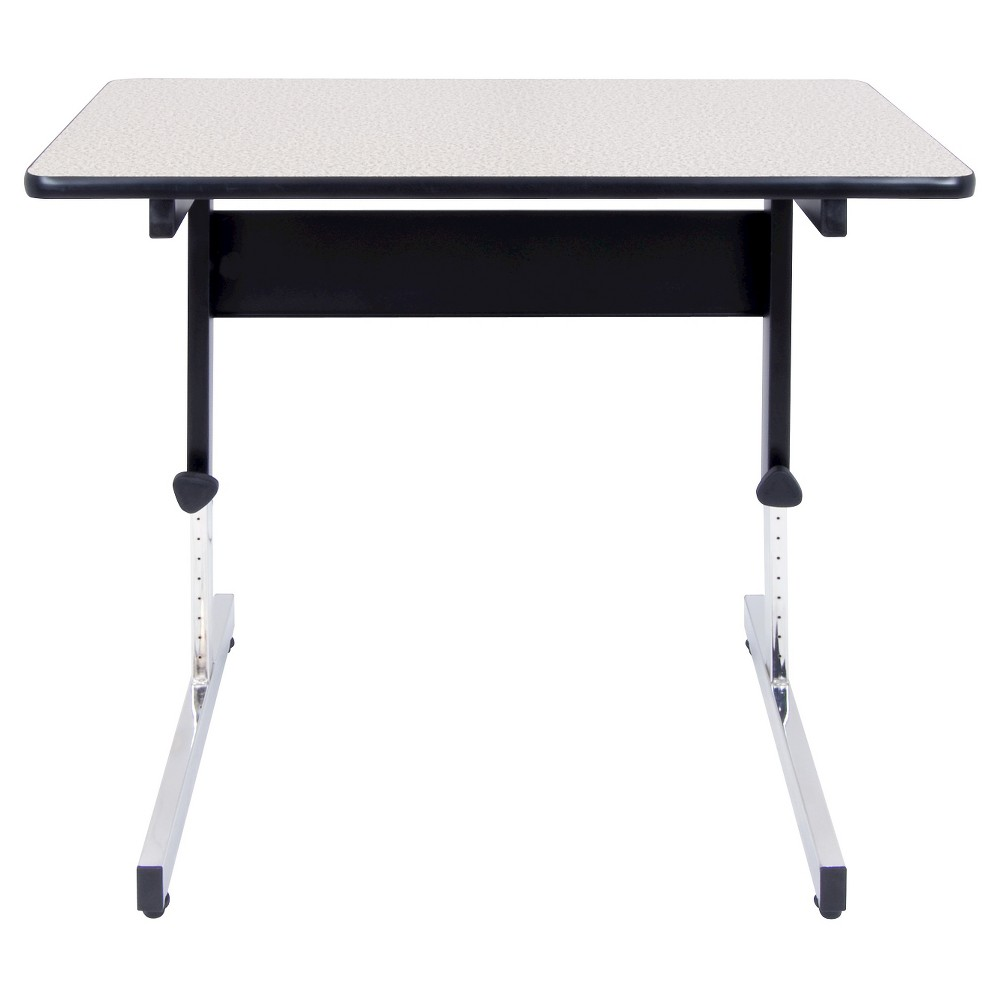 "Image of ""36"""" Canvas & Color Adjustable All Purpose Table Black/Gray - Calico Designs"""