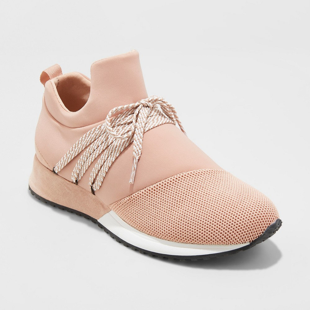 Women's Raquel Slip On Sneakers - A New Day Blush 6