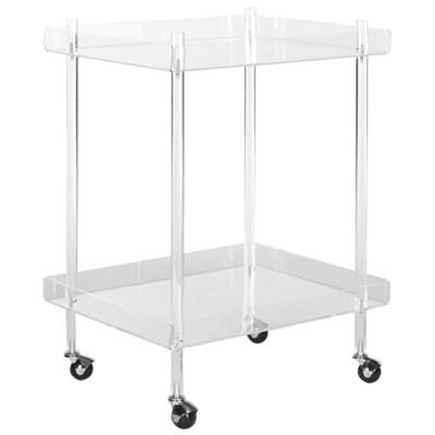 Elle Bar Cart Acrylic/Clear - Safavieh : Target