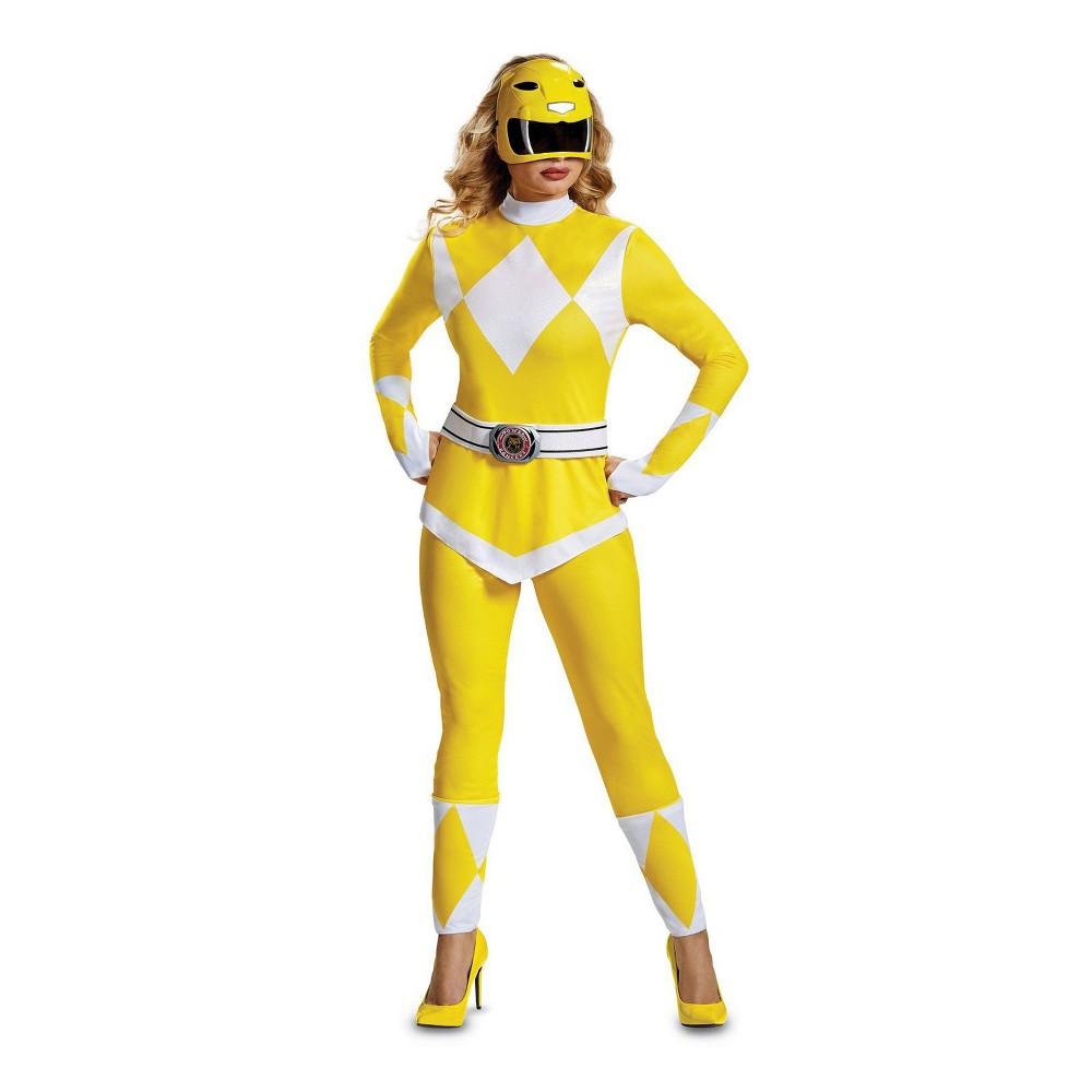 Power Rangers Women's Mighty Morphin' Yellow Ranger Halloween Costume L - Disguise