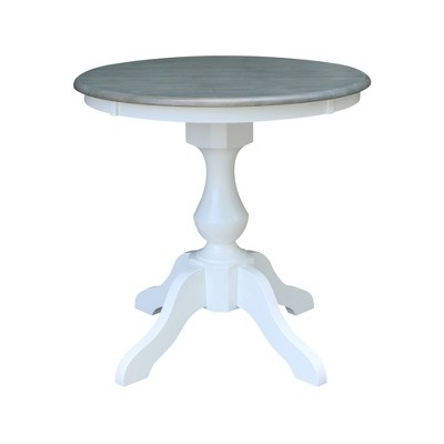 """30"""" Round Top Dining Table White/Heather Gray - International Concepts"""
