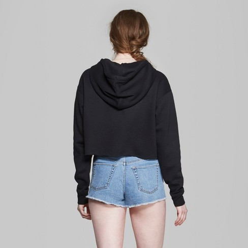 29564aa5674 Women's Cropped Hoodie - Wild Fable™ Black