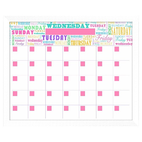 Days Of The Week Decorative Memoboard - image 1 of 1