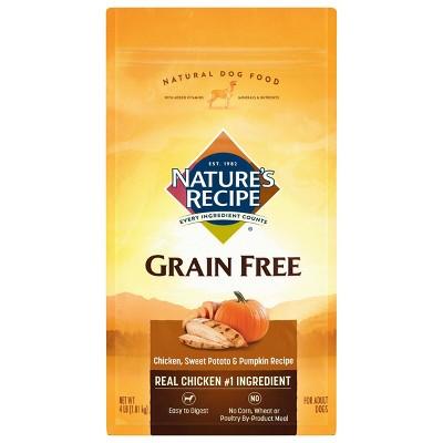 Nature's Recipe Grain Free Chicken, Sweet Potato & Pumpkin Recipe Adult Dry Dog Food