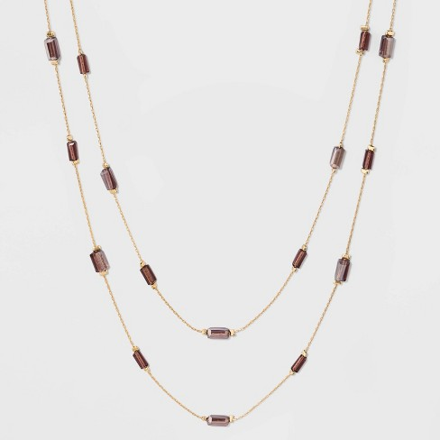 Beaded Wrap Strand Necklace - A New Day™ - image 1 of 3