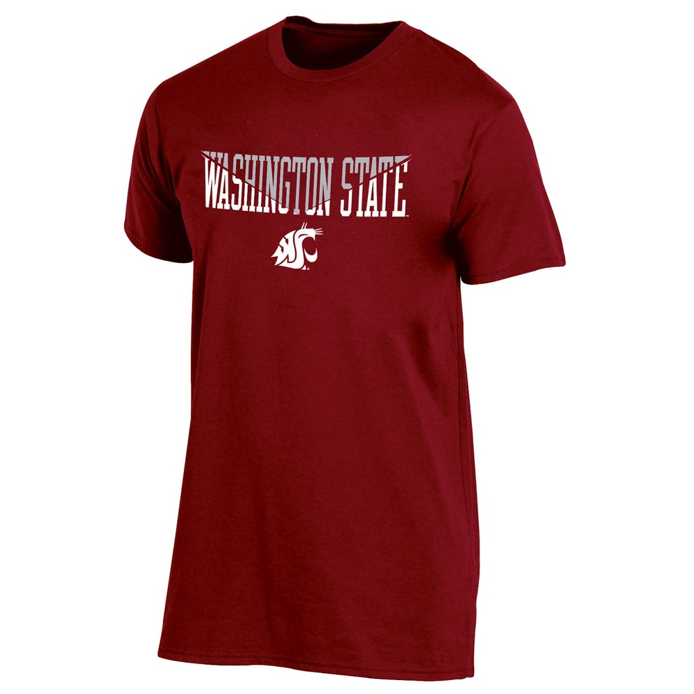 Washington State Cougars Men's Short Sleeve Core Wordmark T-Shirt - Heather L, Multicolored