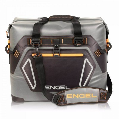 Engel HD30 Heavy Duty Waterproof Soft-Sided Cooler Tote Bag with Carry Handles and Shoulder Strap for 48 Cans or 35 Pounds of Ice, Orange
