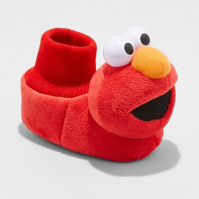 Toddler Boys' Elmo Bootie Slippers Red S(3/4)