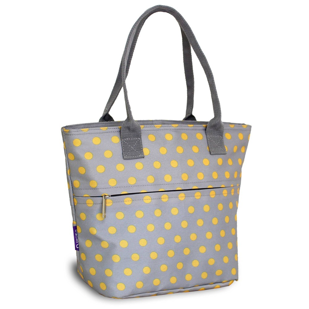 J World Lola Lunch Tote With Back Pocket Candy Buttons
