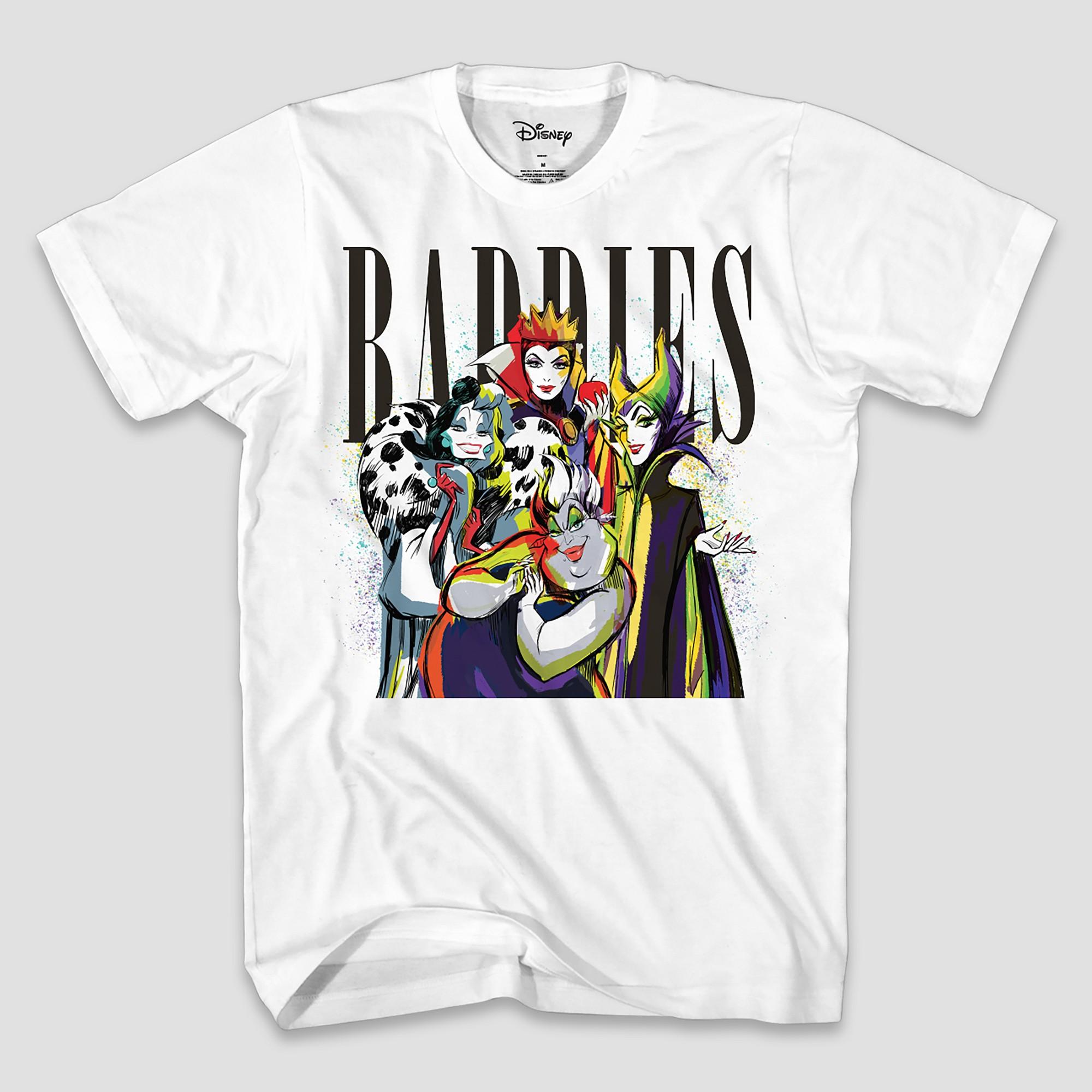 Men's Disney Villains Baddies Short Sleeve T-Shirt - White 2XL