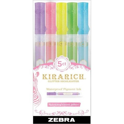 5ct Highlighters Kiriachi Standard Colors- Zebra