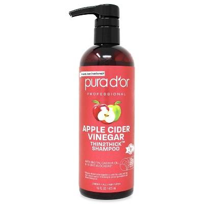 Pura d'or Apple Cider Vinegar Thin2Thick Shampoo - 16 fl oz