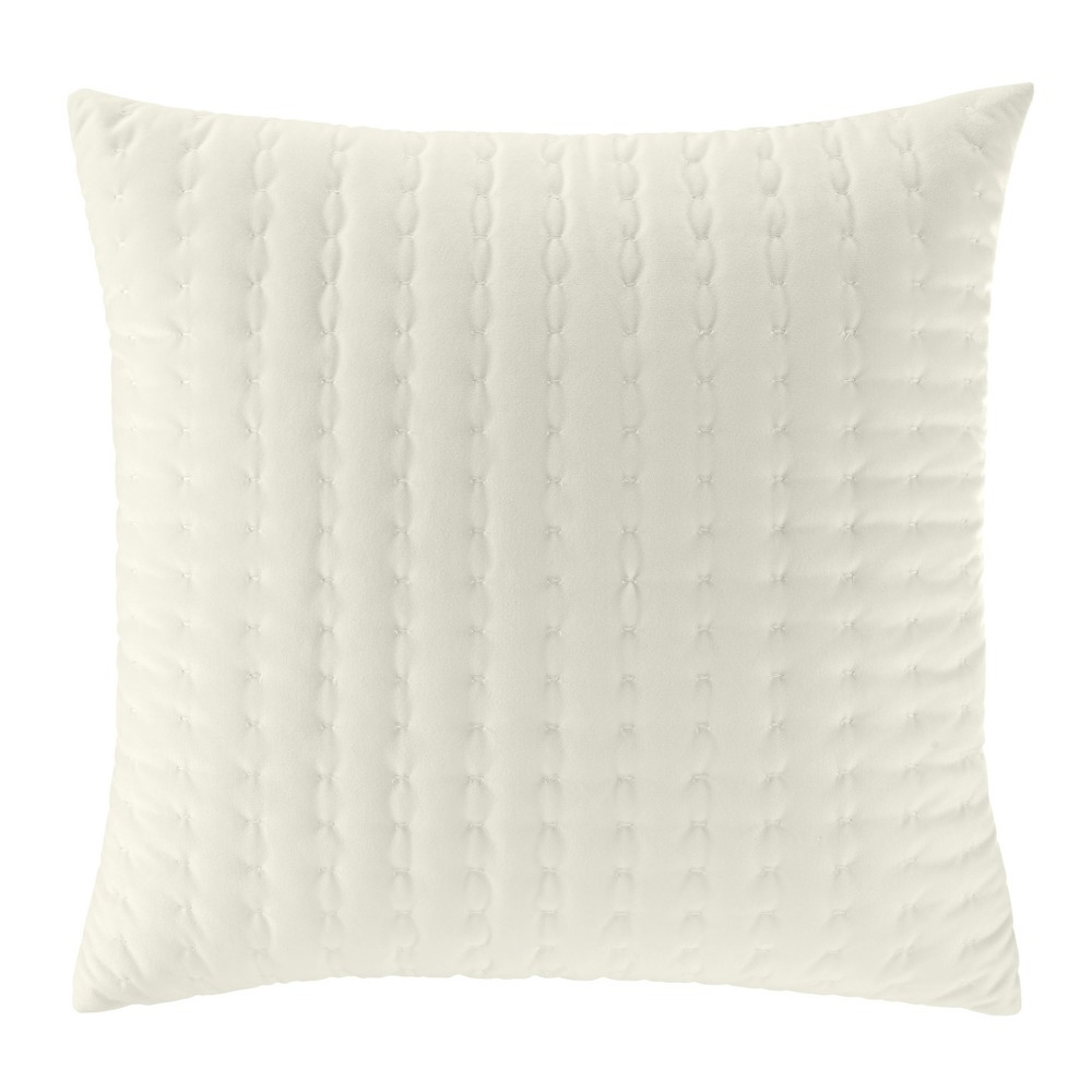 Solid Square Throw Pillow Beige - Stone Cottage, New Oat