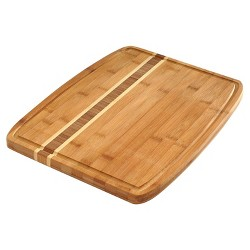 Norpro 7638 Bamboo Wood 16 by 12 Inch Cutting Board with Juice Catching Groove