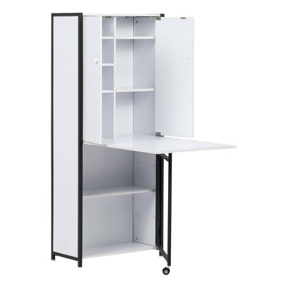 Craft Armoire Charcoal/White - Sew Ready