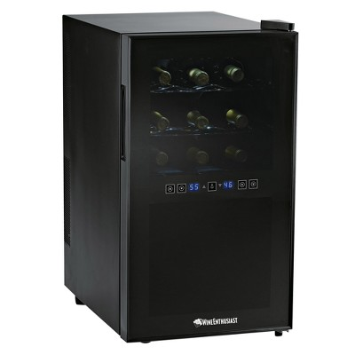 Wine Enthusiast 18 Bottle Touchscreen Wine Cooler - Black 272 03 18