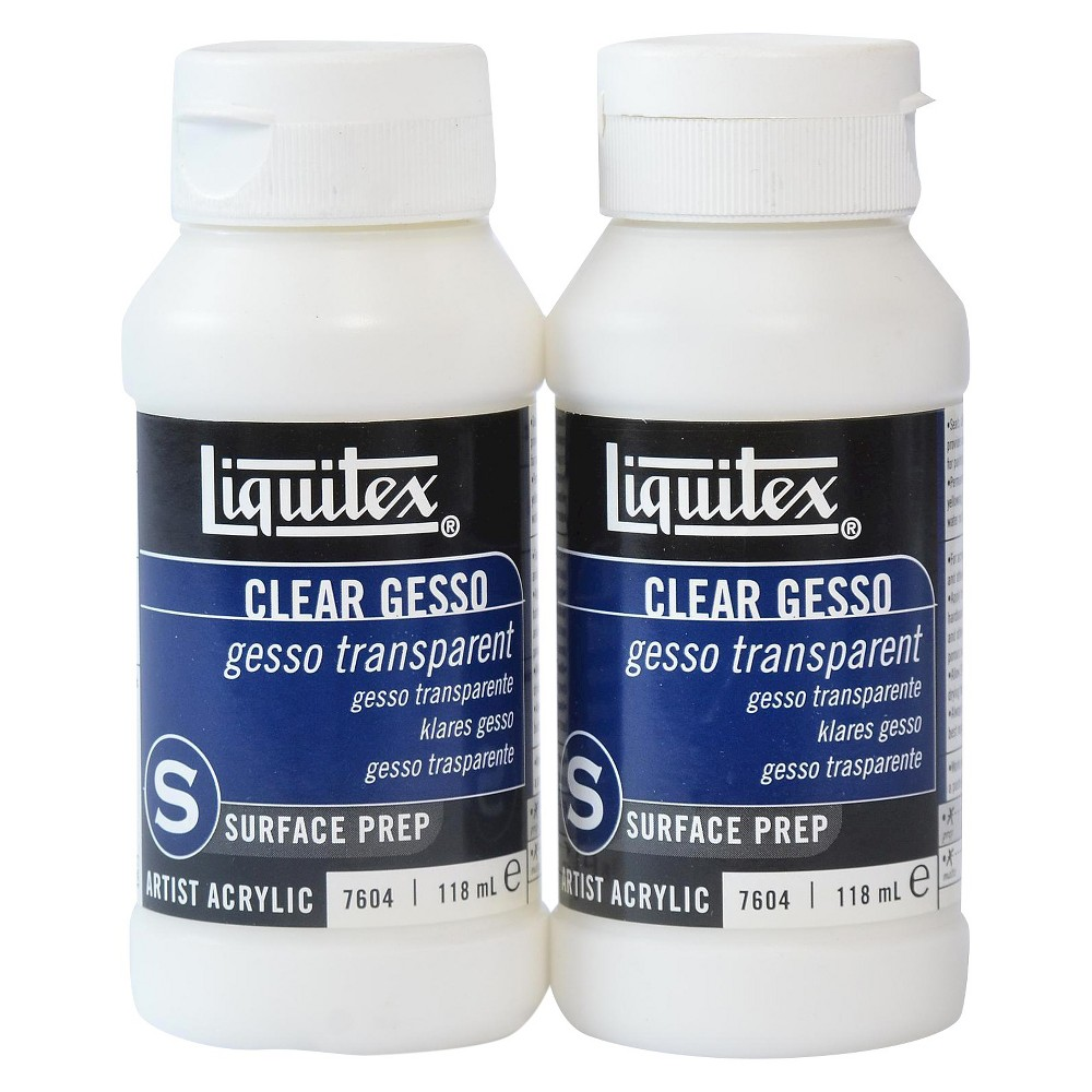 Image of Liquitex Acrylic Clear Gesso, 4 oz - 2pk