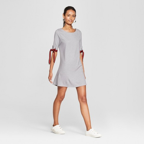 fae83eb88a7b Women s Short Sleeve Athletic Trim Knit Dress - Lots of Love by Speechless ( Juniors ) Heather Gray