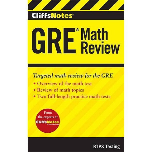 Cliffsnotes GRE Math Review - by  Btps Testing (Paperback) - image 1 of 1