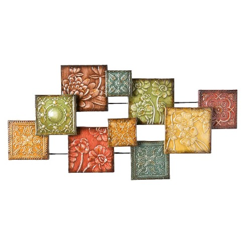 Southern Enterprise Floral Decorative Wall Sculpture - image 1 of 2
