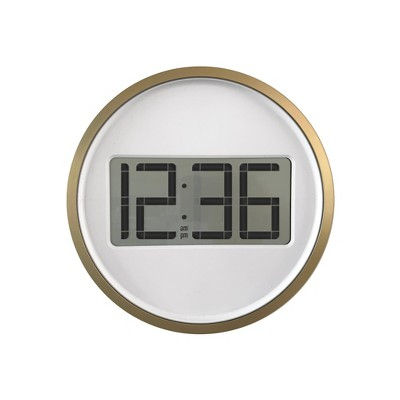 Digital Wall Clock with Circular Frame Bronze - Project 62™