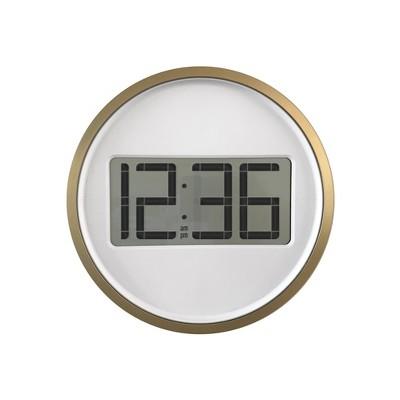 Digital Wall Clock with Circular Frame Bronze - Project 62™