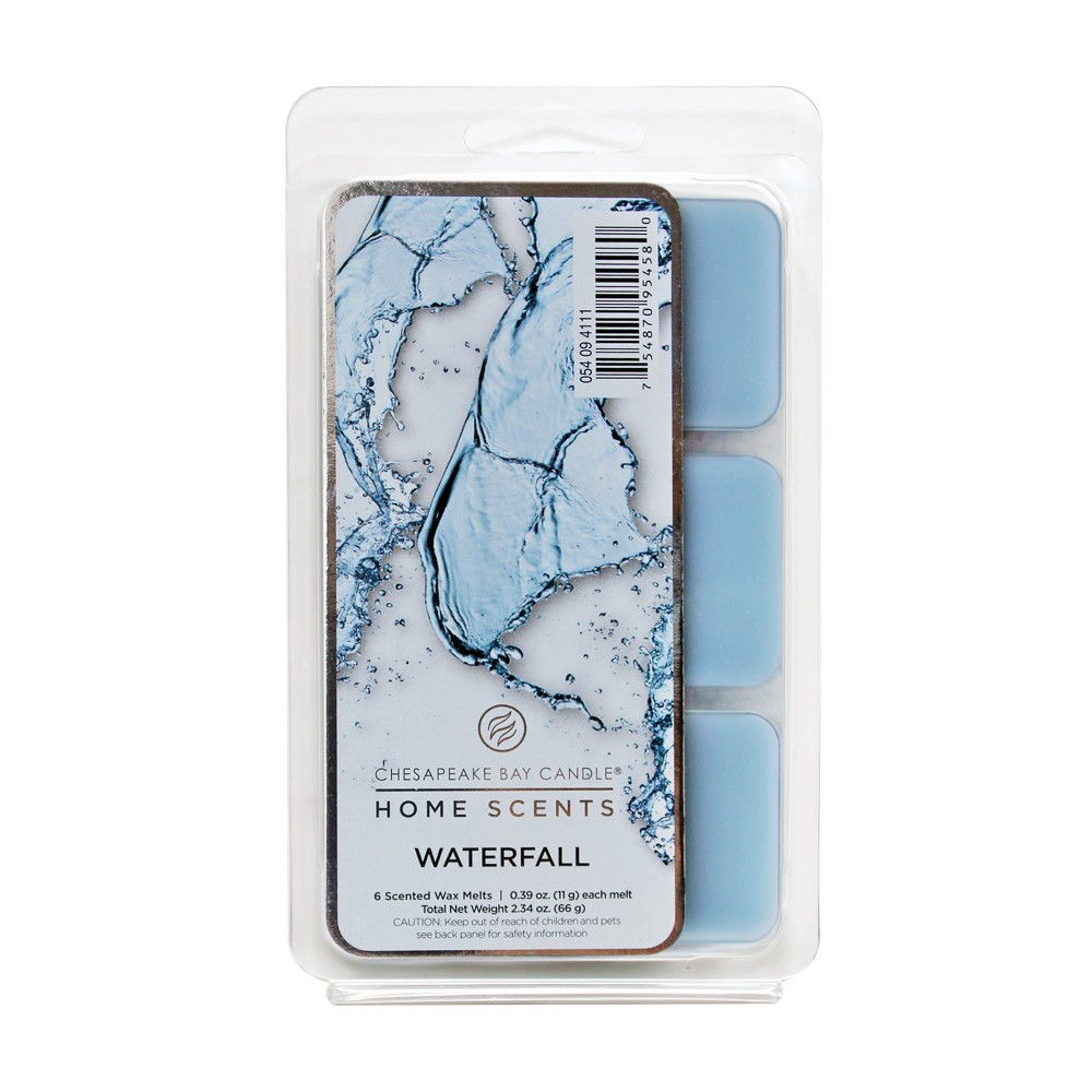 Wax Melts 6pk Waterfall 2.34oz - Home Scents by Chesapeake Bay Candle, Blue