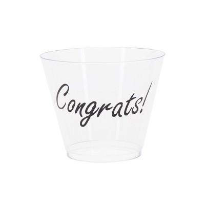 9oz 20ct 'Congrats' Tumbler Cup - Spritz™