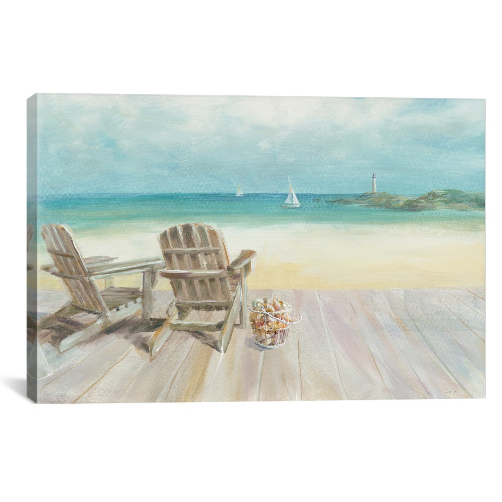 "Image of ""12""""x18"""" Seaside Morning No Window by Danhui Nai Unframed Wall Canvas Print Beige - iCanvas"""