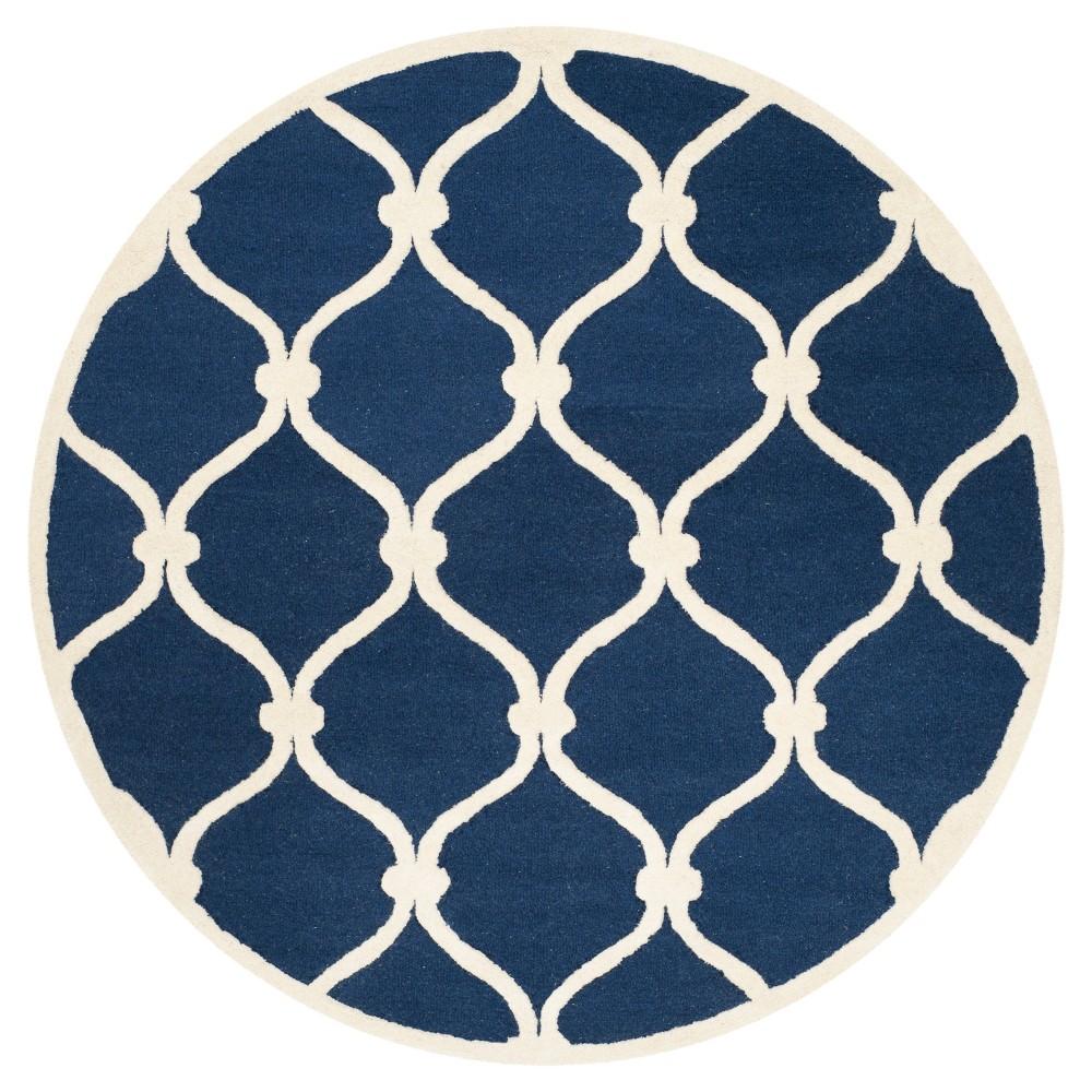 Safavieh Benson Area Rug - Navy / Ivory ( 6' Round ), Blue/Ivory