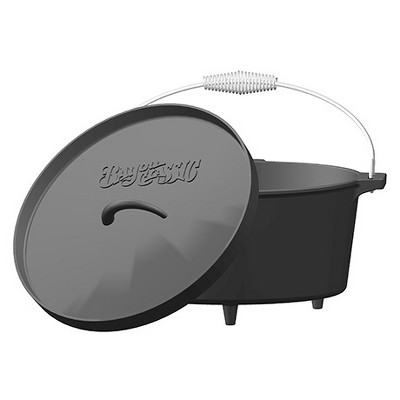 Bayou Classic Cast Iron 8.5qt Camp Dutch Oven with Feet