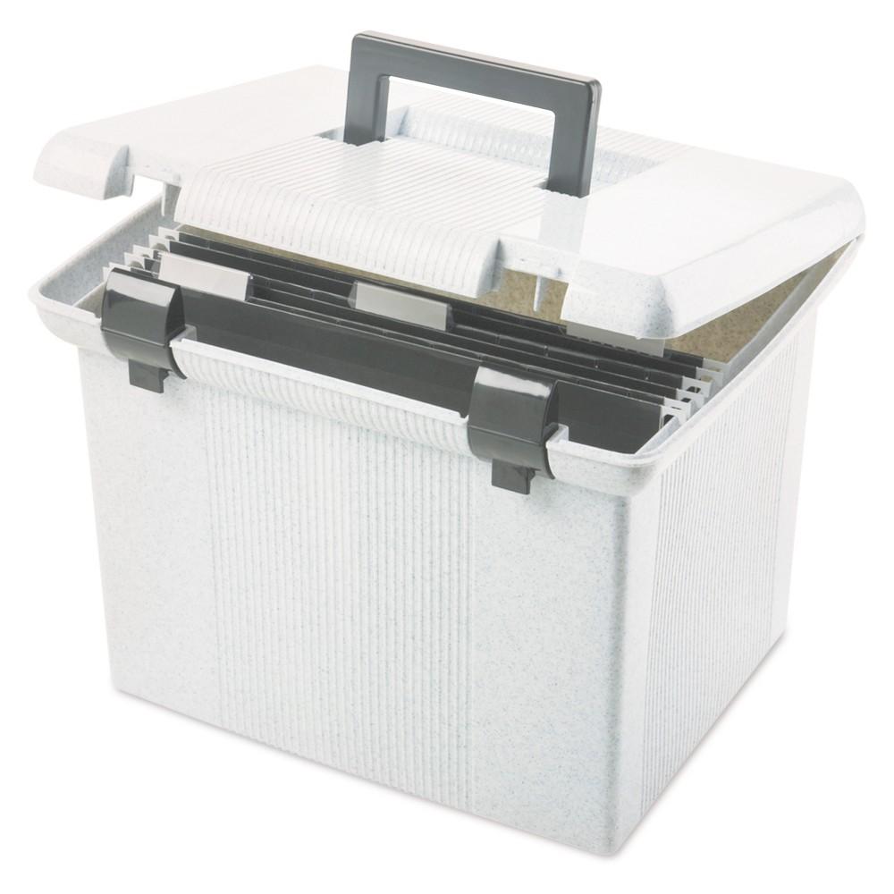 Pendaflex Portafile File Storage Box, Letter, Plastic, 13 7/8 x 14 x 11 1/8, Granite