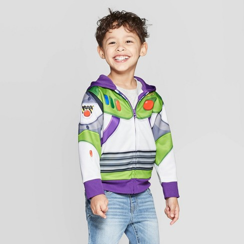 Toddler Boys' Toy Story Buzz Light-year Dress Up Hoodie - Gray 12M - image 1 of 3