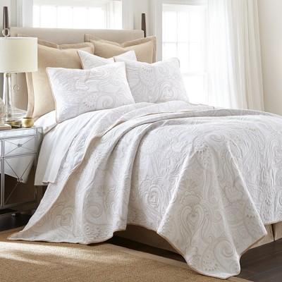 Perla Grey Quilt and Pillow Sham Set - Levtex Home