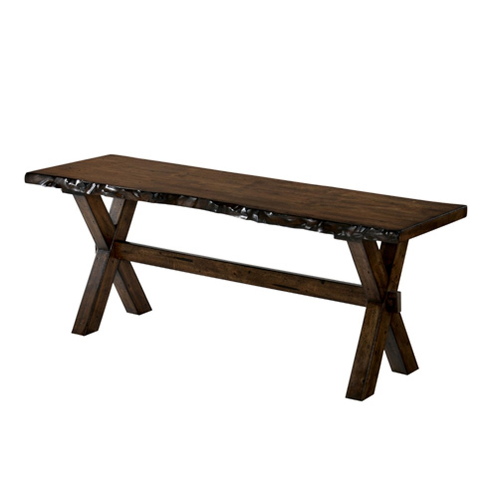 54 Kelley Wood Dining Bench Walnut (Brown) - Sun & Pine