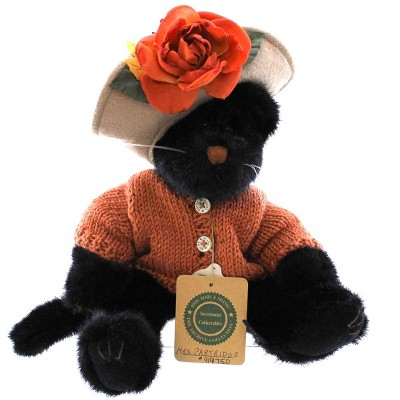 Boyds Bears Plush Mrs Partridge Halloween Black Cat  -  Decorative Figurines