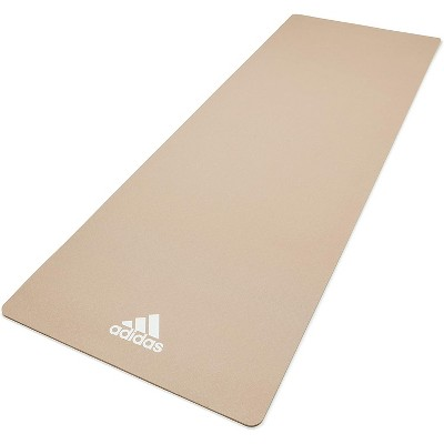 Adidas ADYG-10100VG Universal Exercise Roll Up Slip Resistant Fitness Yoga Mat, 8mm Thick, Vapor Grey