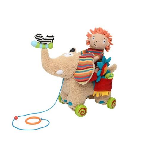 Dolce Pull Along Elephant Stuffed Animal And Plush Toy - image 1 of 4