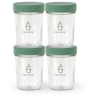 Sage Spoonfuls Snack Jar 4pk Container - 8oz