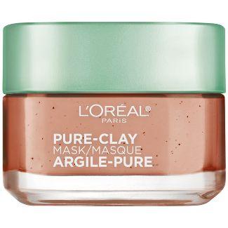L'Oreal Paris Exfoliate & Refine Pores Pure Clay Face Mask - 1.7oz