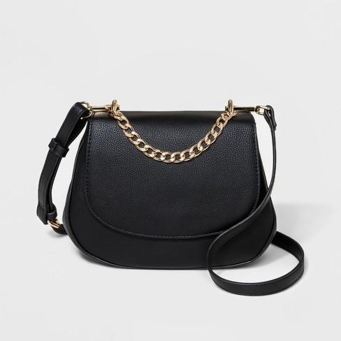 ab3c3b1a84 Everyday Essentials Saddle Crossbody Bag - A New Day™ Black : Target