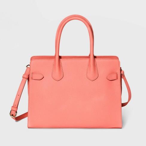 Belted Satchel Handbag - A New Day™ - image 1 of 3