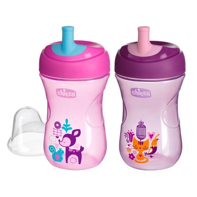 Chicco NaturalFit Straw Trainer 9oz Cup - Pink/Purple (2pk)