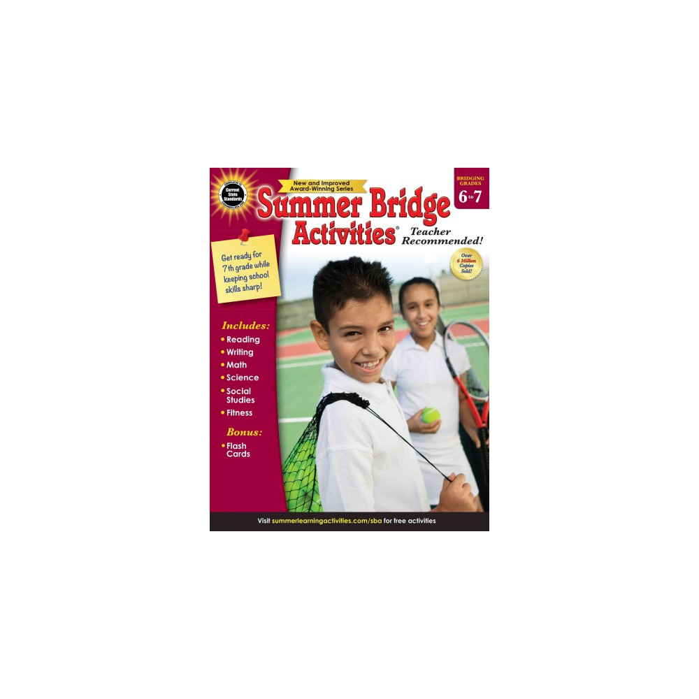 Summer Bridge Activities : Bridging Grades 6 to 7 - (Paperback)