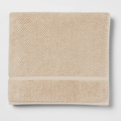 Performance Bath Towel Tan Texture - Threshold™