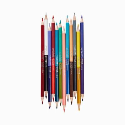 12pk Colored Pencils Double Ended Kawaii Avengers - Yoobi™