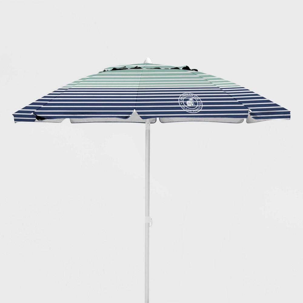 Caribbean Joe Outdoor Beach Umbrella - Horizon Stripe, Multi-Colored